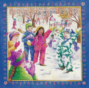 Treasure For Lunch - snow fight