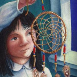 Aboriginal girl with dreamcatcher