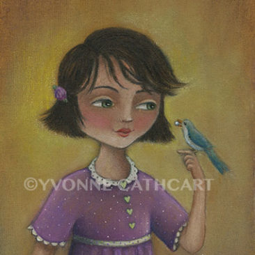 Girl with Bird