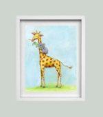 Giraffe & Koala Friend - framed
