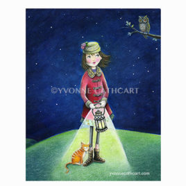 Girl with Lantern - Fall - wh. border watermark-sp