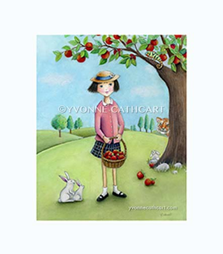 Girl with apples - lighter w-mk (sp)