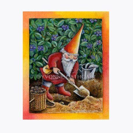 gnome digging