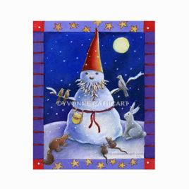 Gnome - snow gnome - w-bord. wrk - sp
