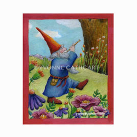 Gnome Playing Flute - new w-mk wh. B - sp