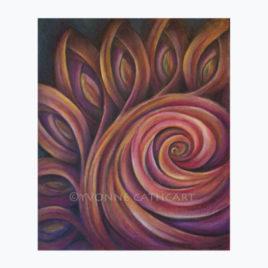 Orange Swirl with border