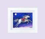 Unicorn - winter ride - framed