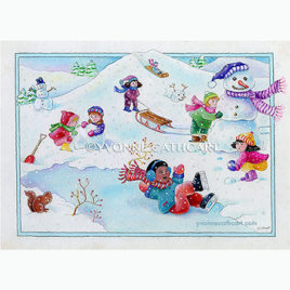 Winter scene - Letter 'S'