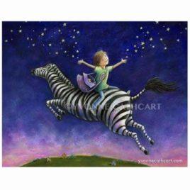 Boy Riding Zebra