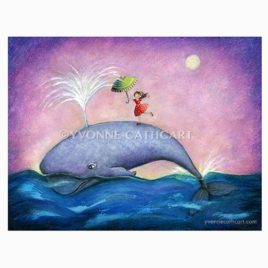 Girl on whale