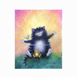 Cat print - meditating